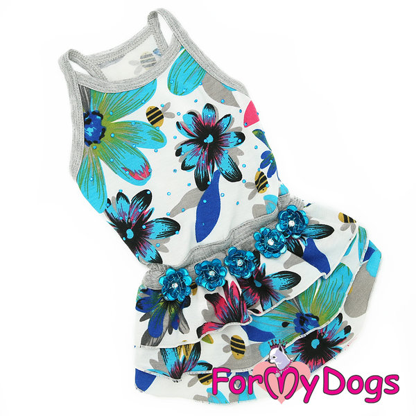 "Dress"" Flowers"" Blue"